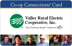 Valley REC's Co-op Connections card