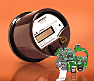 Photo of automated digital meter and circuit board