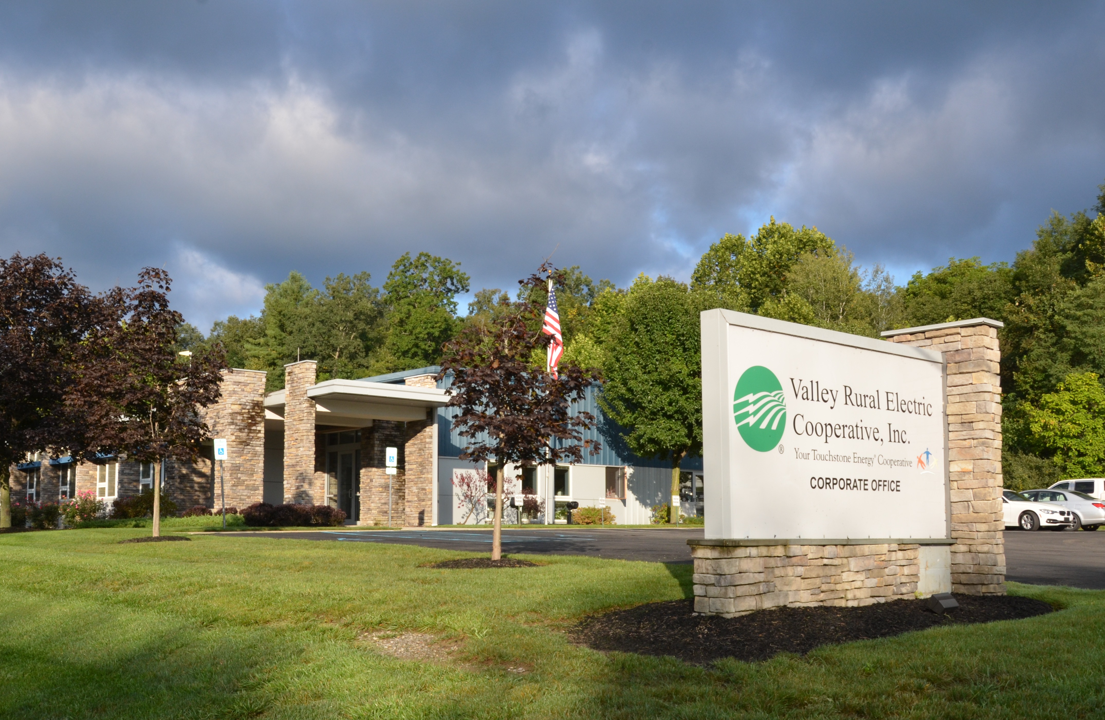 Valley Rural Electric Cooperative corporate office and sign
