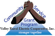 Community Service Grant Program logo - stronger together