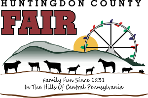 Huntingdon County Fair logo. Family fun since 1831 in the hills of central Pennsylvania.